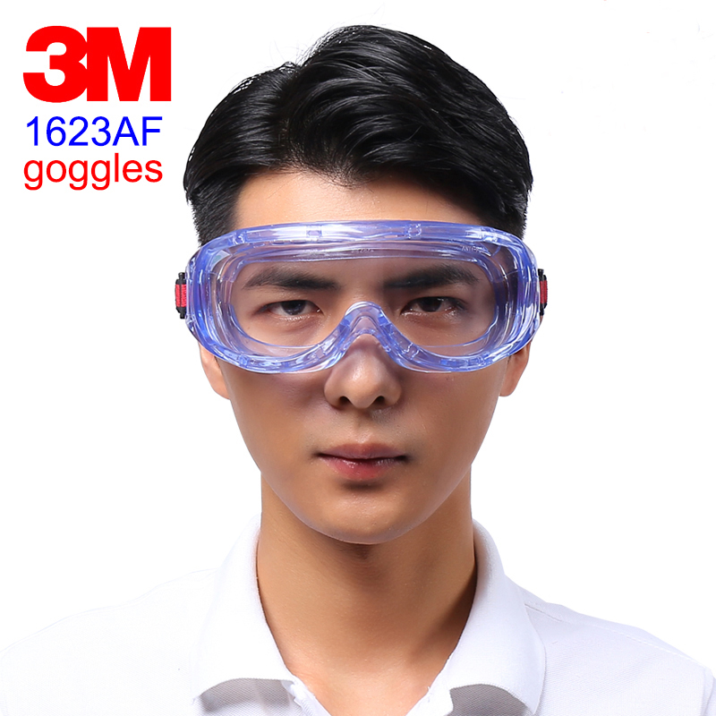 3M 1623AF Protection Glasses Genuine Security 3M Safety Glasses Closed Anti-fog High Definition Chemistry Goggles