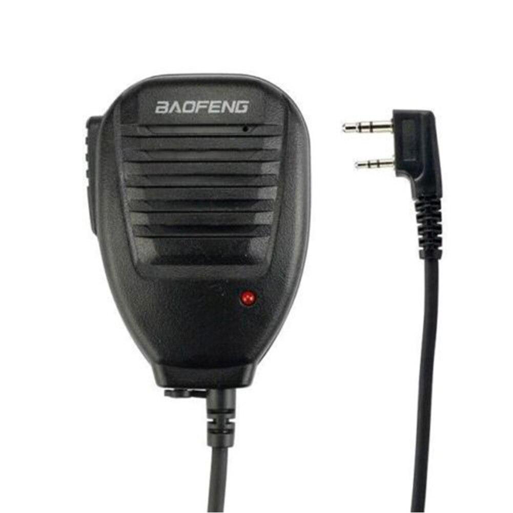 1Pcs PTT Speaker Microphone Mic Accessories For Baofeng UV-5R BF-888s TYT Ret Black