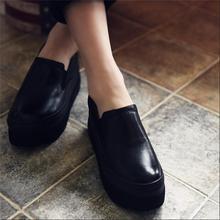 2016 spring genuine leather platform shoes female comfortable shoes handmade elevator platform women shoes 91680