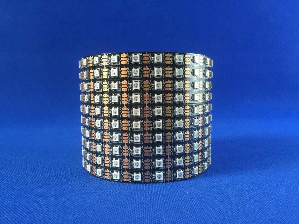 5m DC 5v 300 leds negro/blanco PCB 60 leds/m Luz de píxel 5050SMD ws2812 IC RGB tira de luces led direccionable no impermeable