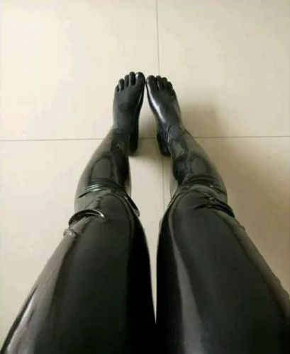 Latex Leggings With Toes Socks Customized
