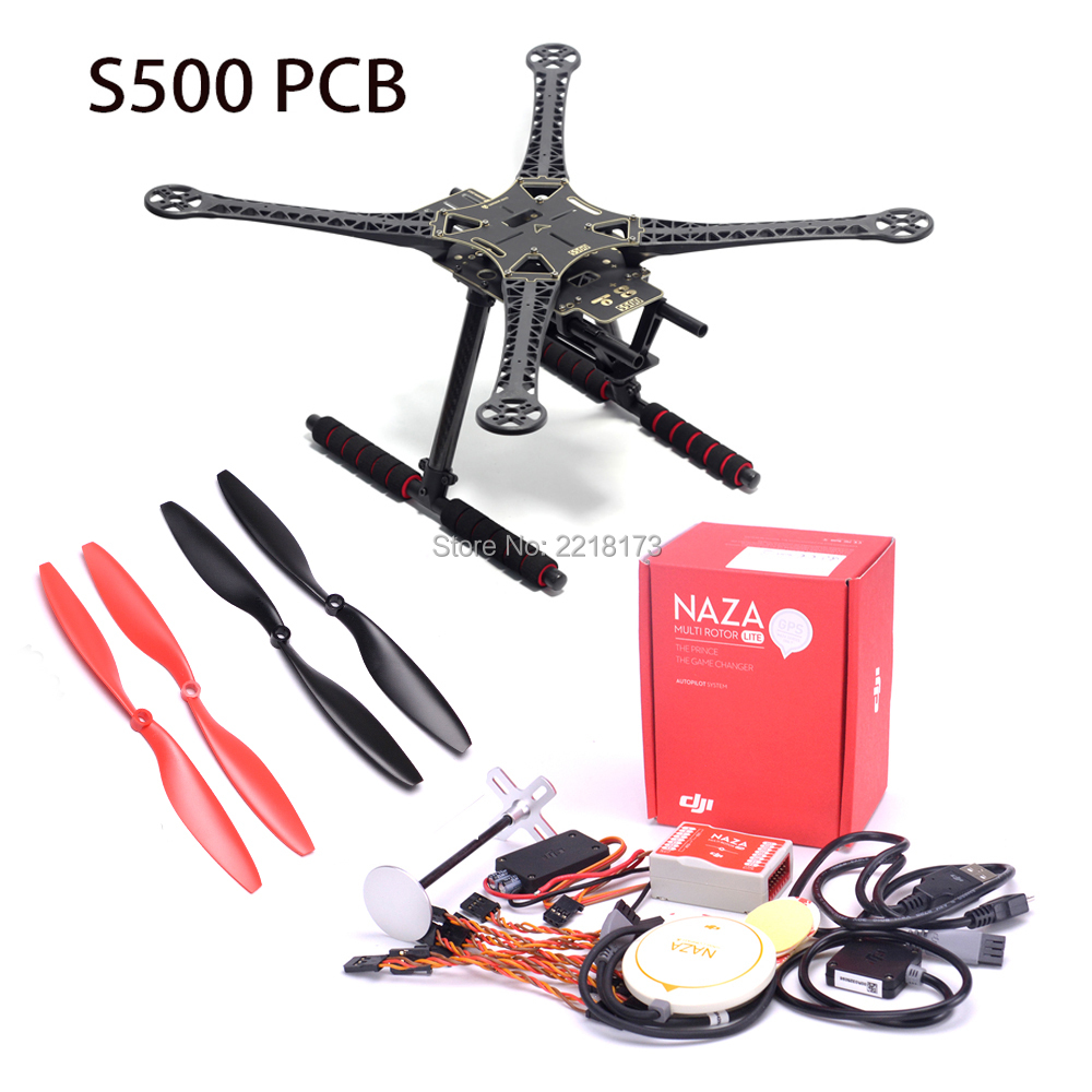 S500 500mm Quadcopter frame kit with landing gear & Original Naza M Lite Flight Controller Board and GPS Combo with PMU & LED f450 450mm pcb version quadcopter rack frame kit naza m lite flight controller board