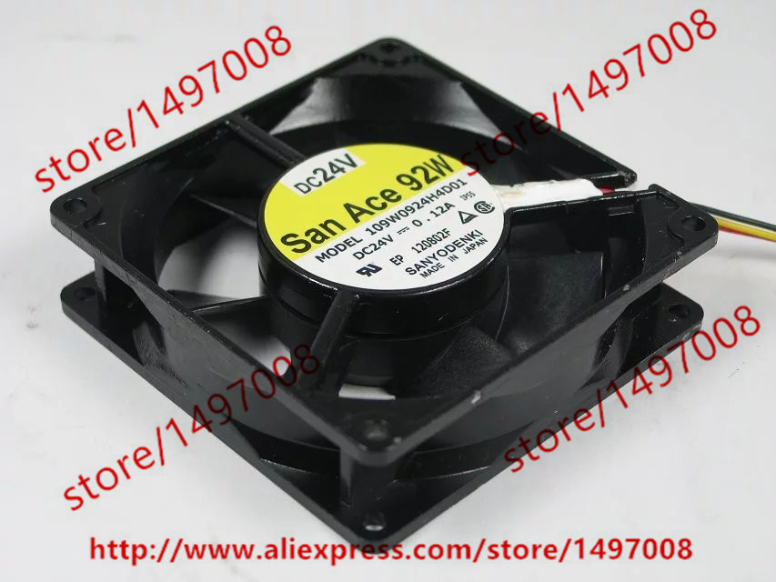 SANYO 109W0924H4D01 DC 24V 0.12A 92x92x25mm Server Square Fan