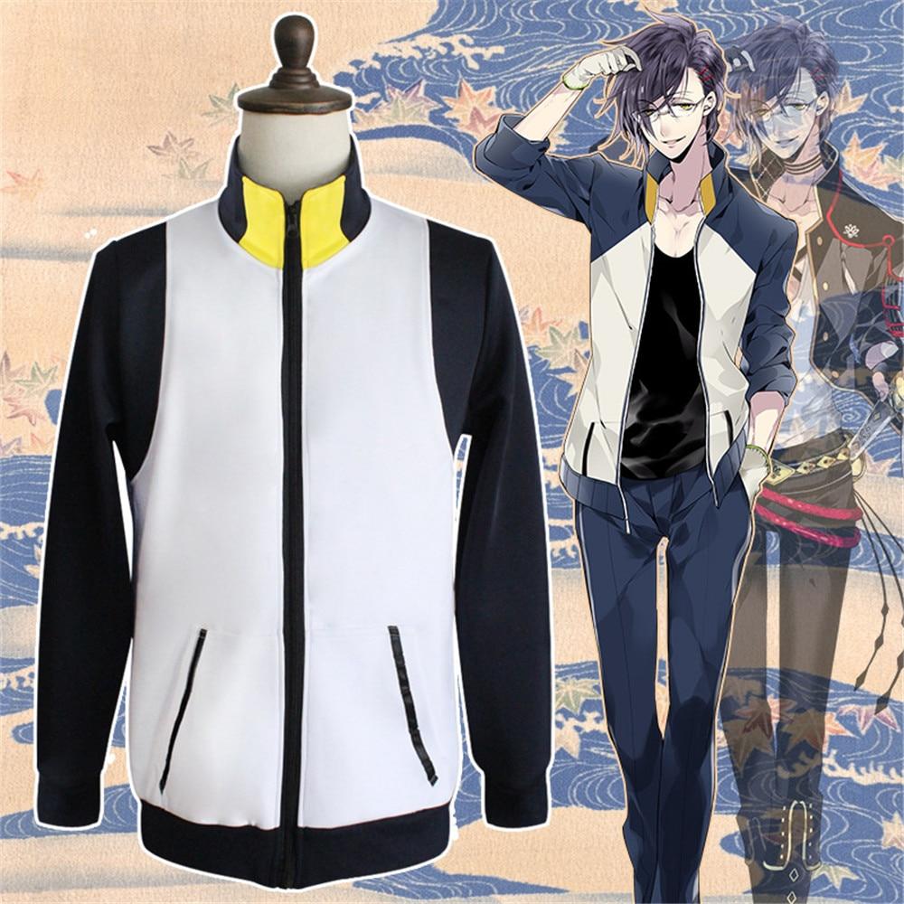 Touken Ranbu Online Hotarumaru Akashi Kuniyuki Sweatshirts Cosplay Costume Cardigan Hoodie Daily Jacket Size S-XXL full set