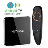 Android 8,1 4 GB 64 GB Amlogic S905X2 LPDDR4 Smart ТВ Box двойной Wifi H.265 1080 p 4 K USB3.0 H96 MAX X2 Google Voice Управление H96MAX