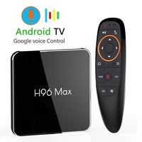 Android 8.1 4GB 64GB Amlogic S905X2 LPDDR4 Smart TV Box Dual Wifi H.265 1080p 4K USB3.0 H96 MAX X2 Google Voice Control H96MAX