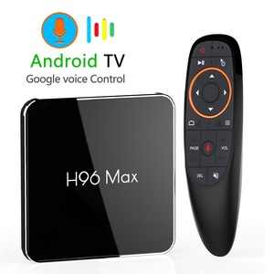 Image 1 - H96 max x2 android 9.0 caixa de tv inteligente 4gb 64gb amlogic duplo wifi h.265 1080p 4k usb3.0 google play store h96max conjunto caixa superior