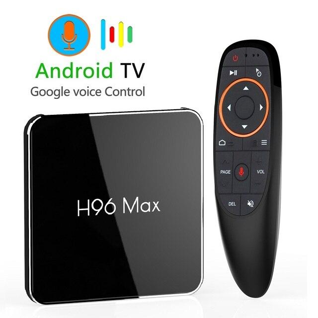 H96 max x2 android 9.0 caixa de tv inteligente 4gb 64gb amlogic duplo wifi h.265 1080p 4k usb3.0 google play store h96max conjunto caixa superior
