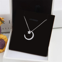 Fashion Sterling Silver Necklace The Stars Moon Four Styles Of Wearing Personality High Quality Necklace Temperament