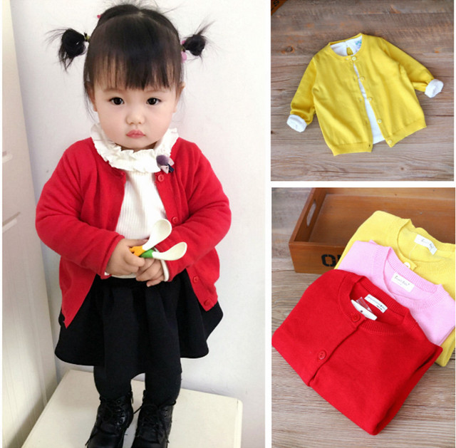 Children Sweaters New Autumn Cotton Baby Girls Sweater Single