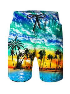UNICOMIDEA 2019 Summer Beach Shorts Printed Mens Casual