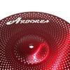 "Aborea - Red Color Low volume cymbal set - 14""hihat+16""crash+18""crash+20""ride 5"