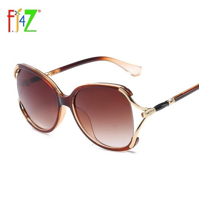 4bac6e8a21a F.J4Z Hot Unique Design Ladies  Sunglasses Fashion Fancy Eye Wear Quality Plastic  Frame