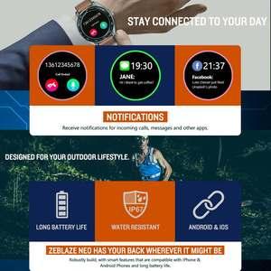 """Image 5 - Zeblaze NEO 1.3 """"كامل مستدير شاشة تعمل باللمس Smartwatch ضغط الدم مراقب معدل ضربات القلب الإناث الفسيولوجية تحقق العد التنازلي ساعة"""