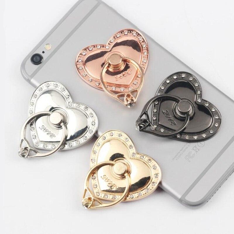 1 шт., универсальный металлический держатель для телефона, с сердечками