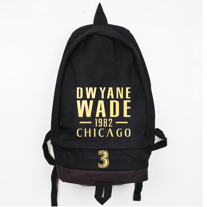New Fashion Dwyane Wade Canvas Backpack Men Women Large Capacity Laptop Travel Backpack Basket Ball Rucksack Boy Girl School Bag in Backpacks from Luggage Bags