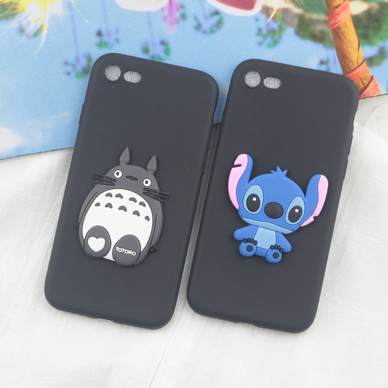 Cute Cartoon Stitch Case For Google Pixel 2 Pixel2 XL Cases Dinosaur Giraffe Totoro Pig Bear Soft Silicon Phone Cover
