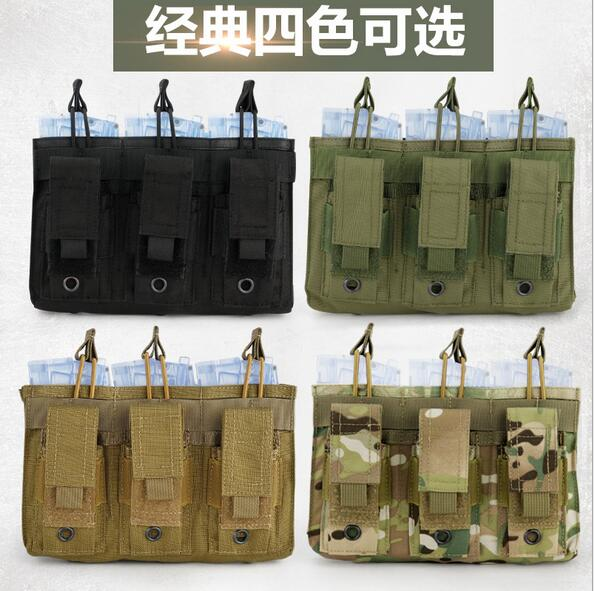 WoSporT Camouflage Tactical Triple Magazine Pouch MOLLE System Magazine  Ammo Clip Bags Holder Pocket