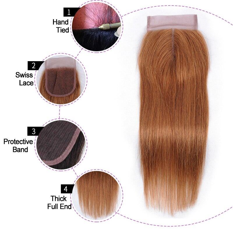 cor do fechamento 30 tecer cabelo humano