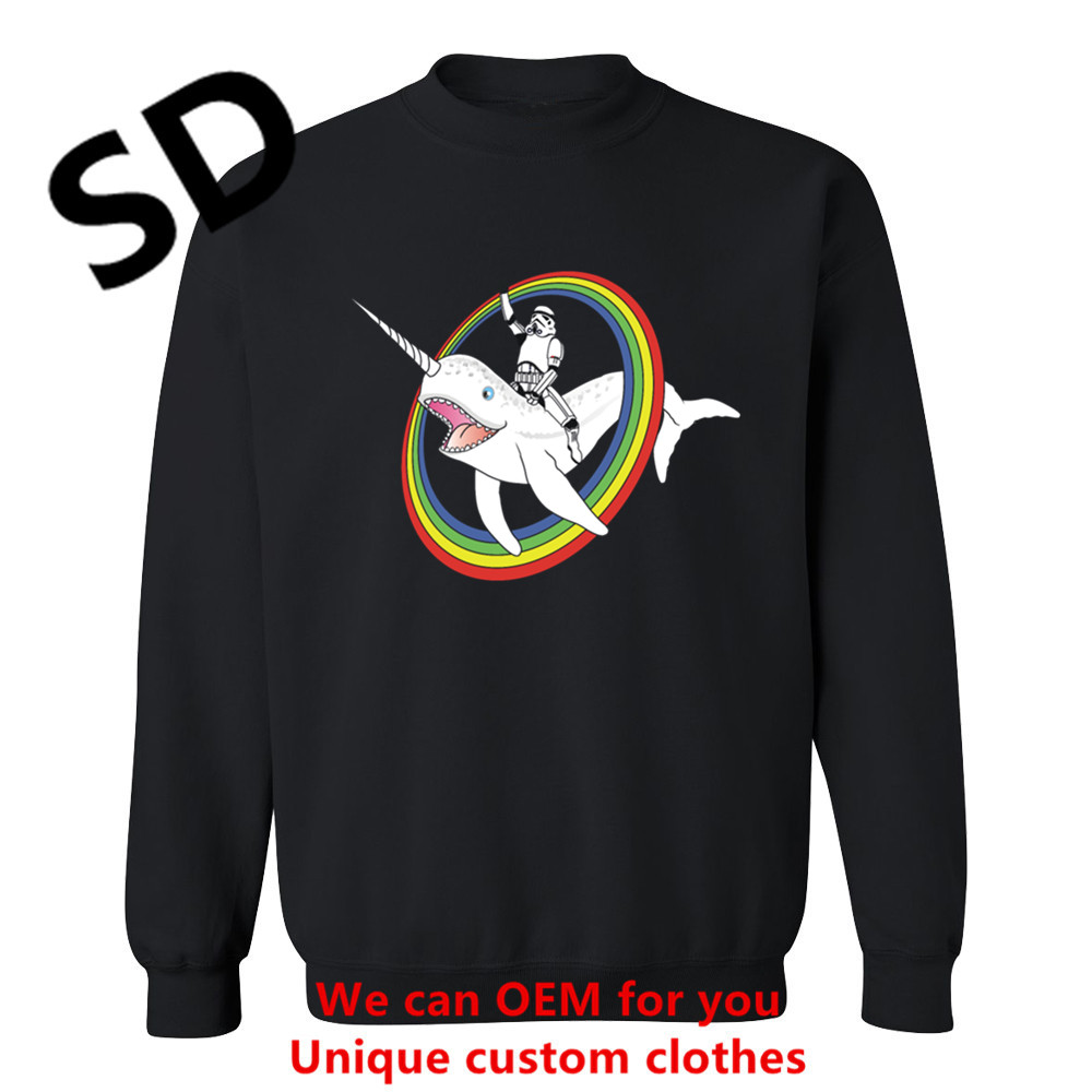 2018 New 3d Hoodies Men Narwhal Rainbow Stormtrooper Star Wars Sweatshirt Men Novelty Style Punisher Long Sleeve Winter Clothing Hoodies & Sweatshirts