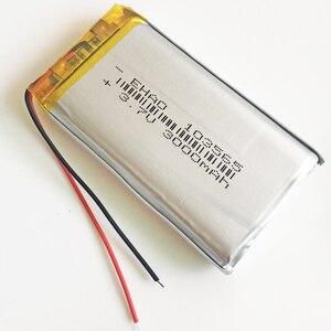 Image 3 - 10 pièces 3.7 V 3000 mAh 103565 polymère Lithium LiPo batterie Rechargeable pour GPS PSP DVD E book tablette PC chargeur portatif pour ordinateur portable