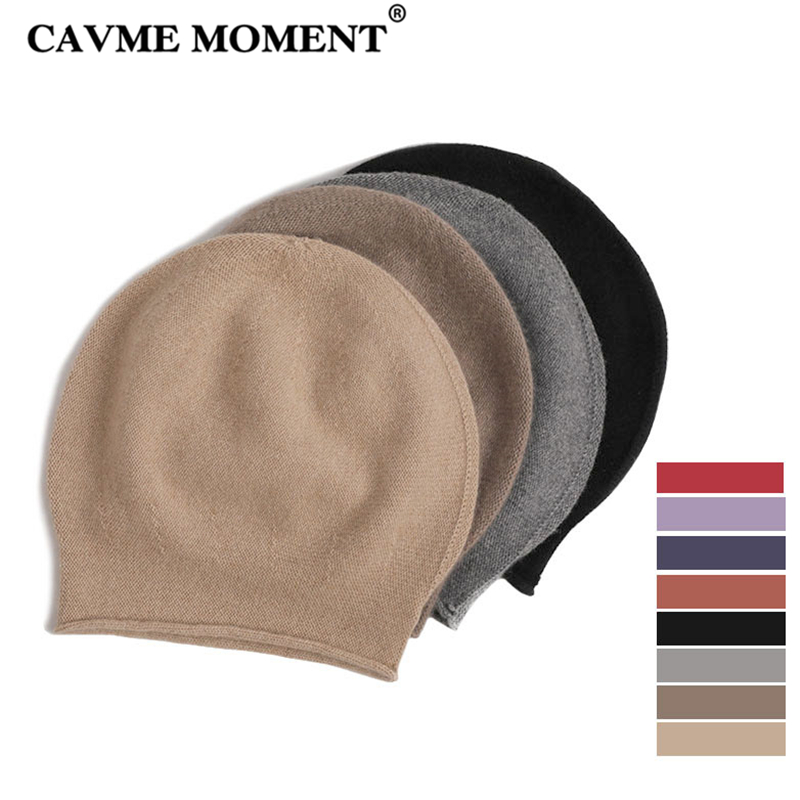 CAVME Cashmere Unisex   Skullies     Beanies   Women Men's Casual Hat Spring Winter Warm Cashmere Kintted Hats Solid Color 51g Free Size