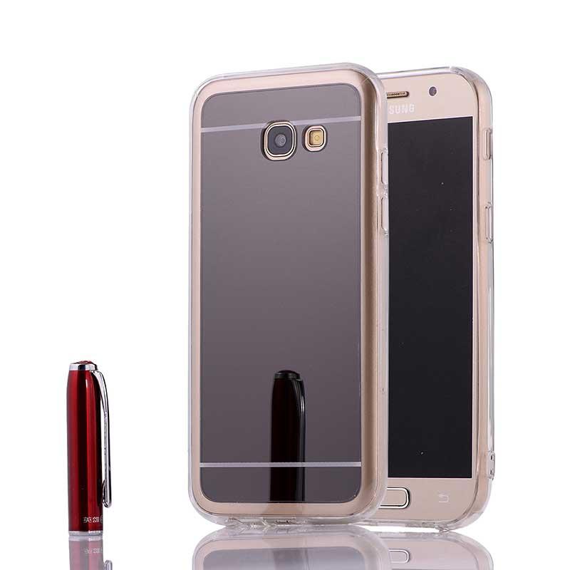 Luxury Mirror Metal Phone Case For Samsung Galaxy A320 A520 A720 A3 A5 A7 2017 A520