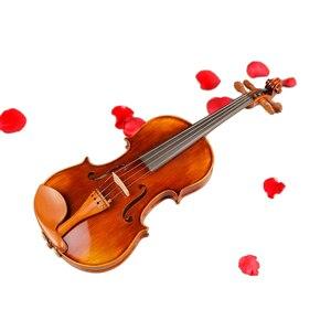 Image 3 - כינורות מקצועי מחרוזת מכשירי כינור 4/4 טבעי פסים מייפל Violon מאסטר יד קרפט Violino עם מקרה קשת רוזין