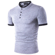 2019 new summer 8 color  Men Polo Shirt Business Casual Solid Male mature men Short Sleeve Breathable