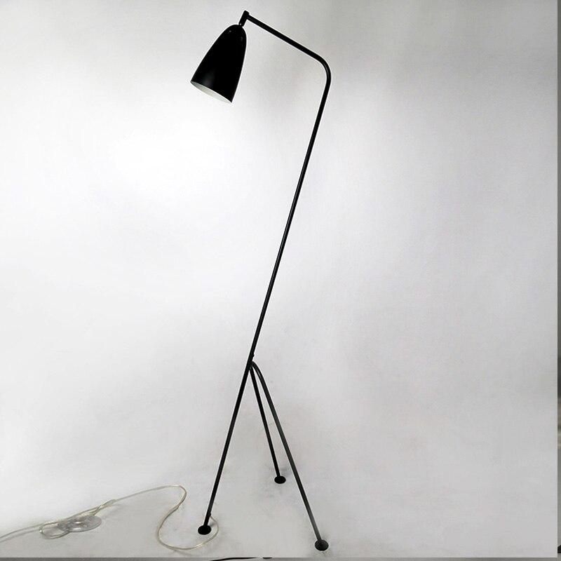 Modern floor lamp black metal lamp shades adjusted angle - Modern lamp shades for living room ...