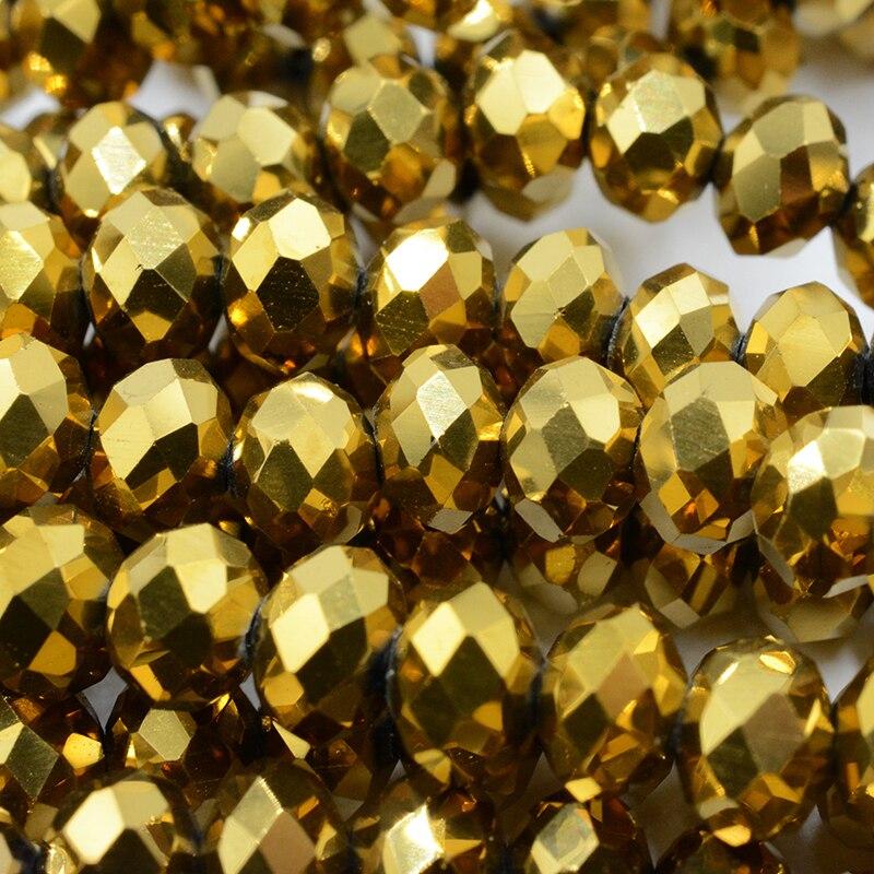 FLTMRH Сияющие фиолетовые 3*4 мм 140 шт Австрийские граненые Хрустальные стеклянные бусины для изготовления ювелирных изделий - Цвет: 093