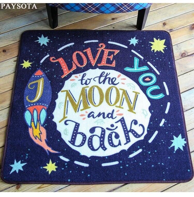 Nouveau jeu tapis maison enfants salon la chambre lit couverture tapis thé table tapis bébé chambre chaise bande dessinée tapis