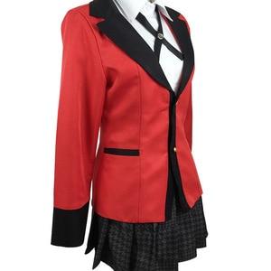 Image 4 - 7PCS 풀 세트 JP 애니메이션 가케 구루이 코스프레 의상 할로윈 Jabami Yumeko 코스프레 의상 Igarashi Sayaka Cosplay school uniform