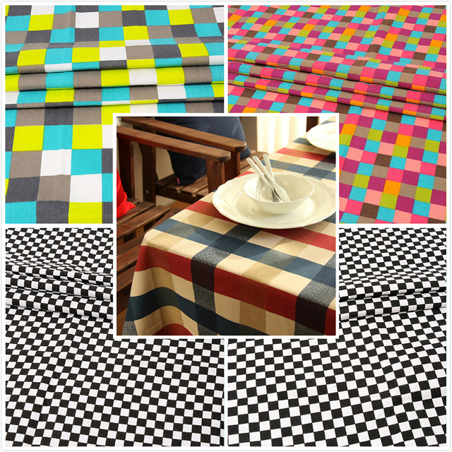 Canvas Fabric Colorful Lattice Fabric For Sofa Sets,Chair Cover ...