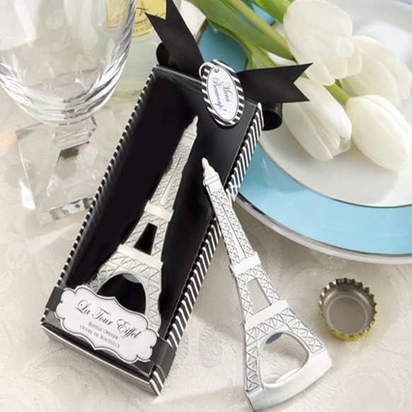 wine bottle beer champagne opener slivery stainless steel tower gift box for wedding guests party