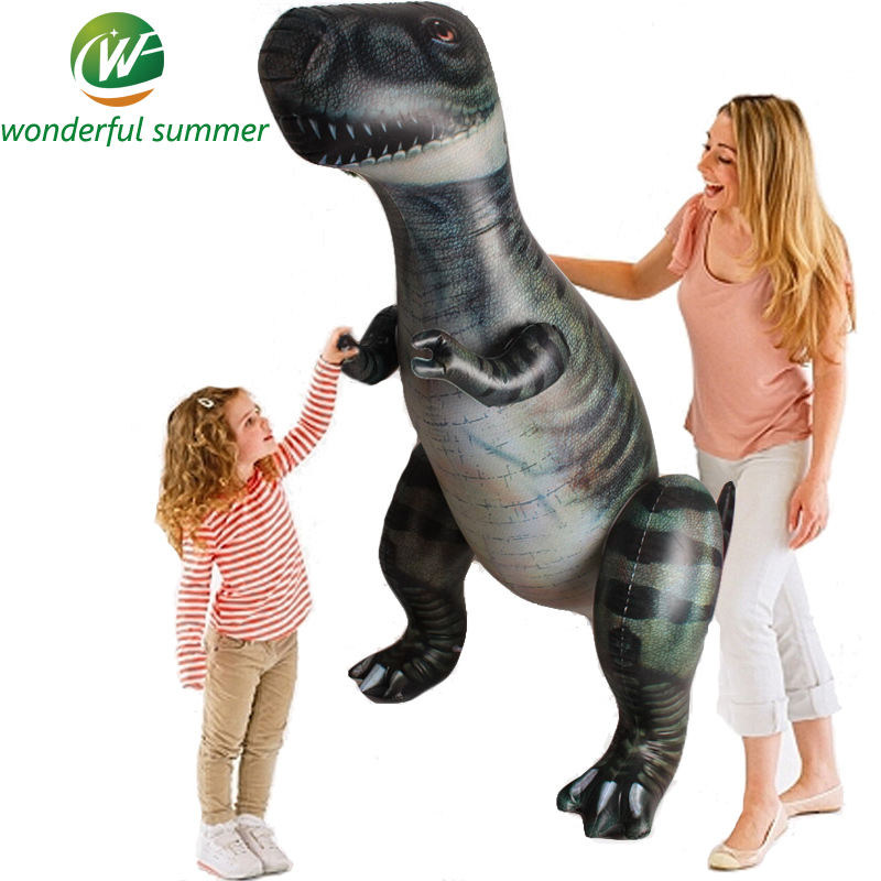 Child Toy Giant Inflatable Dinosaur Tyrannosaurus Rex Halloween/Birthday Decorations Props Party Supplies Favor 185 CM Souvenirs the dinosaur island jurassic infrared remote control electric super large tyrannosaurus rex model children s toy