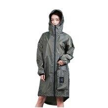 Длинный тонкий плащ для женщин и мужчин водонепроницаемый капюшон рюкзак дождевик куртки-пончо плащ женский Chubasqueros большой размер