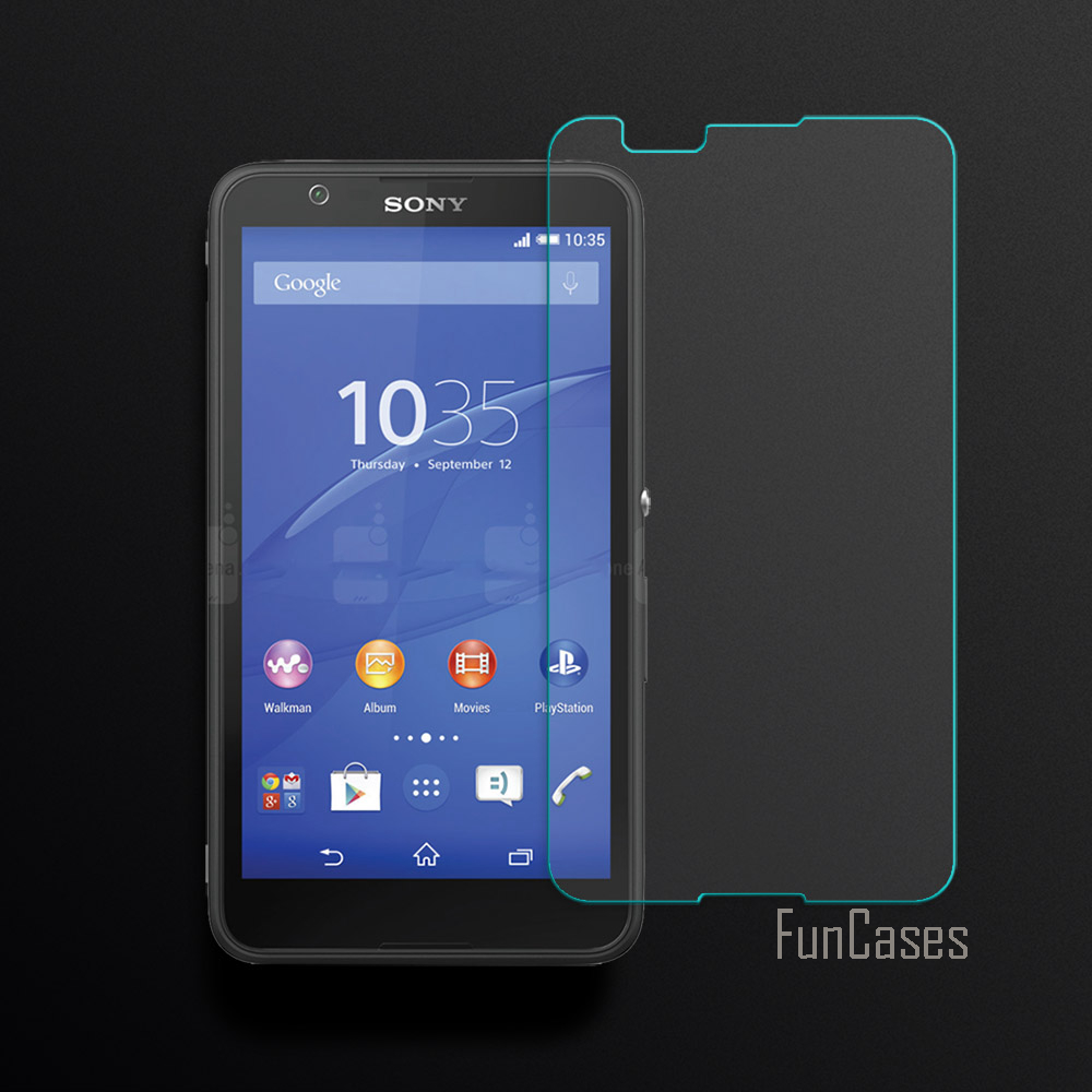 US $2 54 48% OFF 2 5D Curved Edge Screen For Sony Xperia E4 Tempered Glass  For Sony Xperia E4 Screen Protector Front HD Film Anti Scratch 0 26mm-in