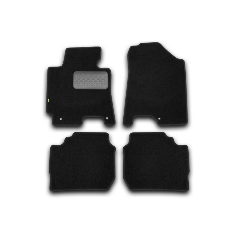 Mats in salon Klever Standard For KIA Cerato AUTOMATIC TRANSMISSION 2013->, сед... 4 PCs (textile) mats in salon klever premium for cadillac cts automatic transmission 4wd 2007 2014 сед 4 pcs textile