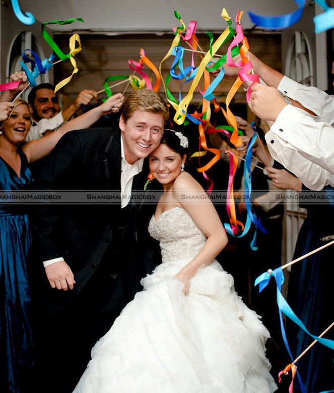 aliexpresscom buy shanghaimagicbox 20pcs twirling streamers wedding favor ribbon stickswands with bells colorful 41114307 from reliable ribbon sticks