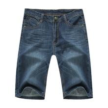 2016 Summer good quality men's casual brand straight denim jeans man black blue color cowboy thin pant large size 29-50