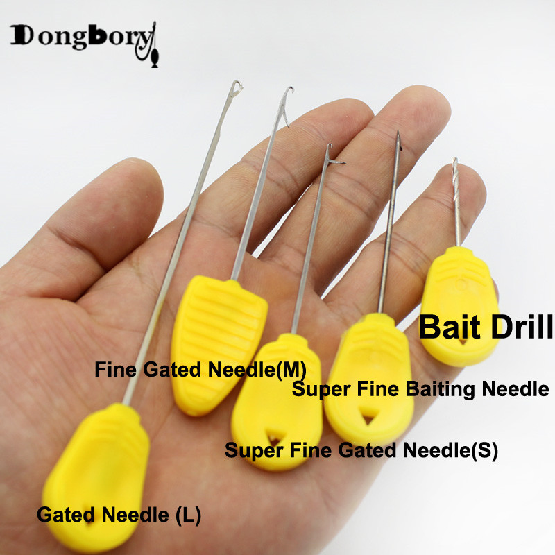 3PCS Carp Fishing Boilies Bait Drill Baiting Needle Gate Needle Pellet Hair Rigs Splicing Making Tools Rigs Loading Accessories
