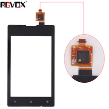 New Front Panel For SONY XPERIA E C1505 C1504 DUAL C1605 C1604 Touch Screen Sensor Digitizer Outer Glass Repair White Black 50pcs new black touch screen digitizer panel glass lens replacement parts for sony xperia z4 repair part dhl free shipping