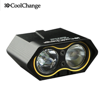 CoolChange LED Bike Light Waterproof Bicycle Flashlight T6 Lamp Power Bank USB Headlight Front Light MTB Bicycle Accessories