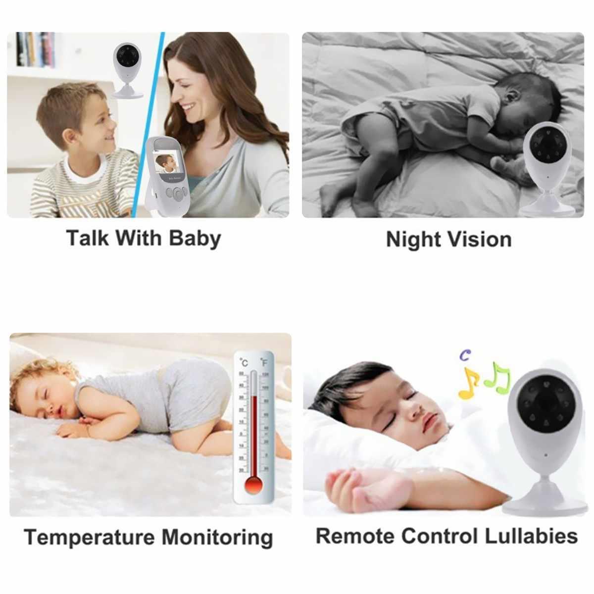 2.4 Inch 2 Way Wireless Audio Video Pengawas Bayi Rumah Pengasuh Keamanan Kamera Malam Visi Pemantauan Suhu