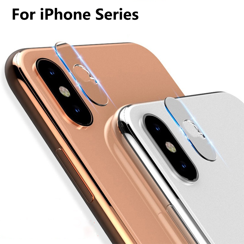 Verre Tremp Glass On For iPhone XR X XS MAX 8 7 6 6s Plus Camera Lens Protector Full Cover Lente Protection Screenprotector Glas image