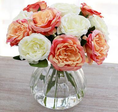 simcer 장미 실크 인공 꽃 홈 장식 및 파티 결혼식 무료 배송 따뜻한 판매 상품