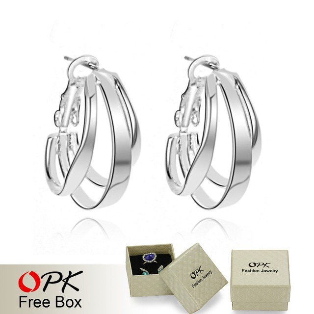 OPK JEWELRY 925 silver sterling earring wholesale price retail one PCS silver drop earring drop shipping silver stud 901