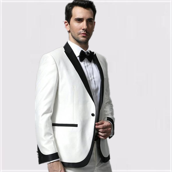men white wedding suits groom/groomsmen/wedding/party dresses high ...