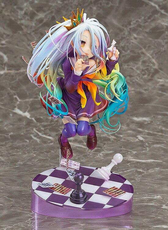 Anime Angka 20 Cm No Game No Life Hidup Permainan Putih 3 Generasi Poker 1 8 Skala Pvc Figure Collectible Figurine Model Mainan Hadiah Aliexpress